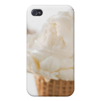 Close up of various ice cream cones covers for iPhone 4