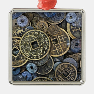 Close up of Vietnamese coins Metal Ornament