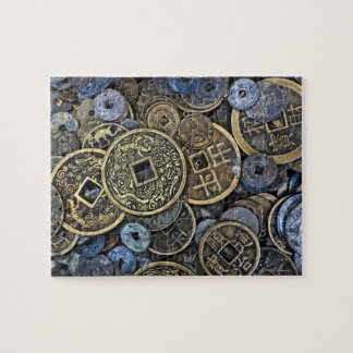 Close up of Vietnamese coins Puzzles