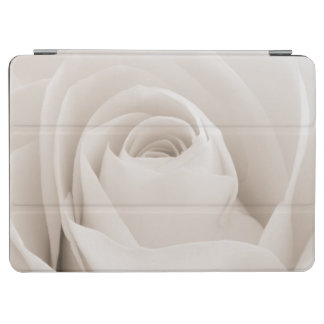 Close up of White Rose Petals iPad Air Cover