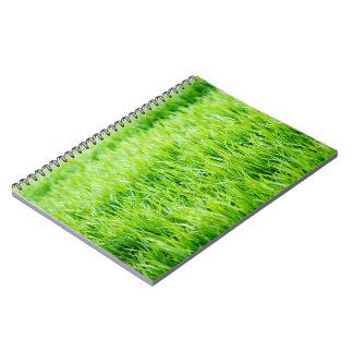 Close-up on blades of grass notebook