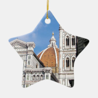 Close up on Florence. Ceramic Star Ornament