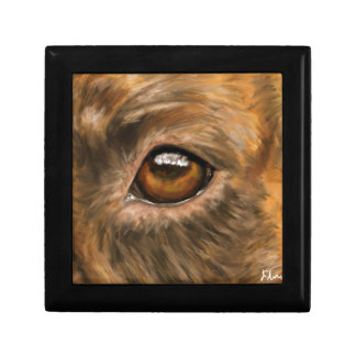 Close-Up Painting of Pit Bull's Eye Keepsake Boxes