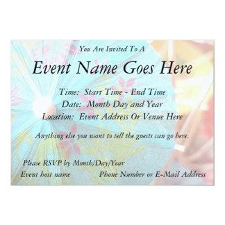 "Close Up - Paper Parasol 5"" X 7"" Invitation Card"