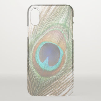 Close Up Peacock Feather iPhone X Case