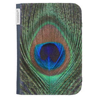 Close Up Peacock Feather Kindle Case