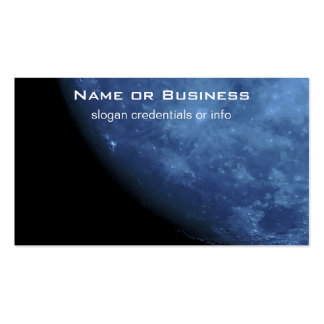 Close Up Photo Full Moon in Blue Pack Of Standard Business Cards
