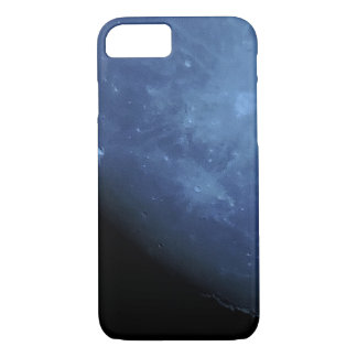 Close Up Photo Full Moon in Blue iPhone 7 Case