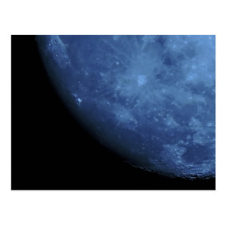 Close Up Photo Full Moon in Blue Postcard