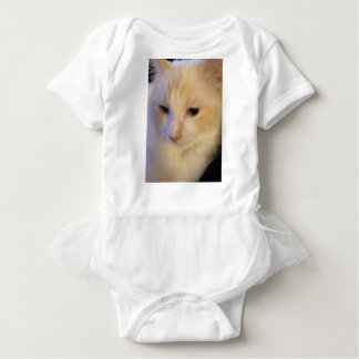 Close Up Red Point Ragdoll Cat Baby Bodysuit