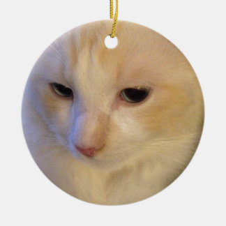 Close Up Red Point Ragdoll Cat Ceramic Ornament
