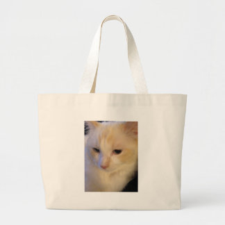 Close Up Red Point Ragdoll Cat Large Tote Bag