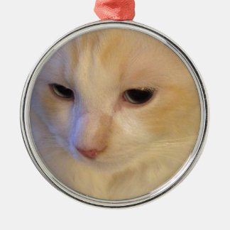Close Up Red Point Ragdoll Cat Metal Ornament