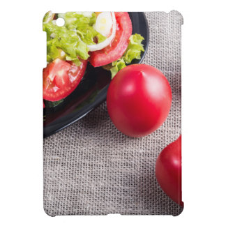 Close-Up top view on fresh tomatoes and a bowl iPad Mini Case