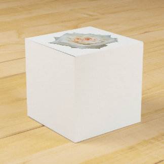 Close Up View Of A Beautiful White Rose Isolated Favor Box