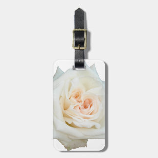 Close Up View Of A Beautiful White Rose Isolated Luggage Tag