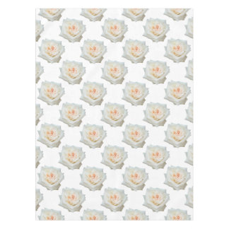 Close Up View Of A Beautiful White Rose Isolated Tablecloth