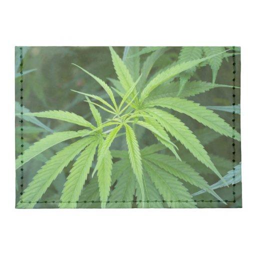 Close-Up View Of Marijuana Plant, Malkerns Tyvek® Card Case Wallet
