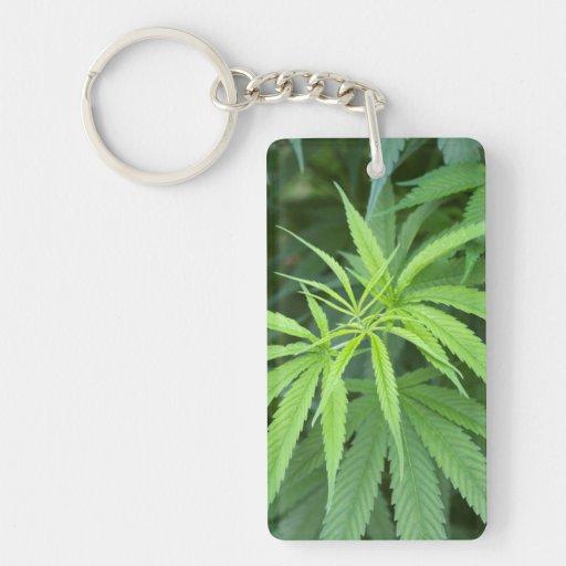 Close-Up View Of Marijuana Plant, Malkerns Acrylic Key Chain