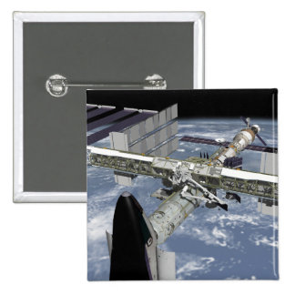 Close up view of the Shuttle docked Pinback Buttons
