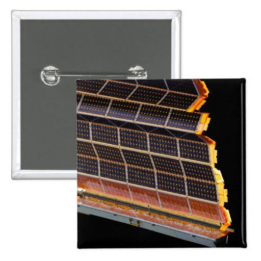 Close-up view of the solar arrays pin