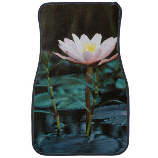 Close-Up view of Water Lily at Inle Lake Floor Mat