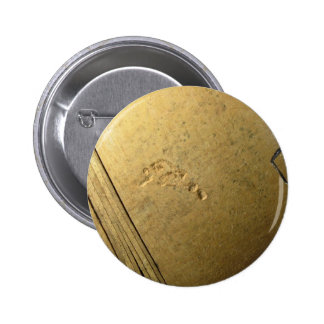 Close-Up view of wooden bowl Pinback Buttons