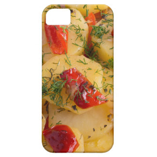 Close up view on a vegetarian dish of potatoes case for the iPhone 5