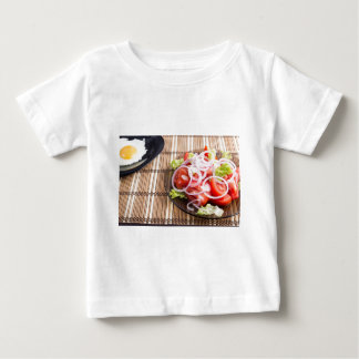 Close-up view on natural homemade breakfast baby T-Shirt