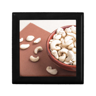 Close Up view on raw cashew nuts for vegetarian Jewelry Box
