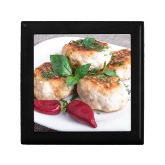 Close Up view on rissole of minced chicken Gift Boxes