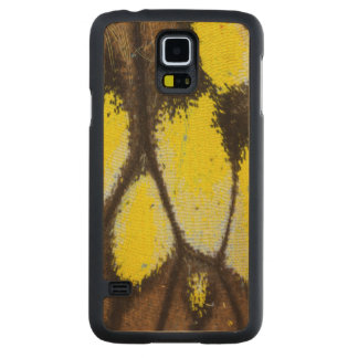 Close-up Wing Pattern of Tropical Butterfly Carved Maple Galaxy S5 Case