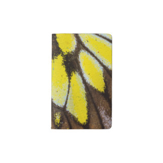 Close-up Wing Pattern of Tropical Butterfly Pocket Moleskine Notebook