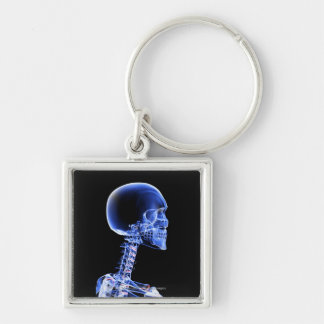 Close up x-ray of the bones in the neck keychains