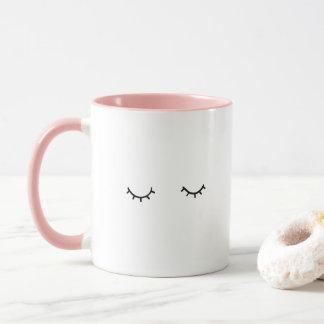 Closed eyes, just eyelashes mug