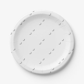 Closed eyes, just eyelashes paper plate