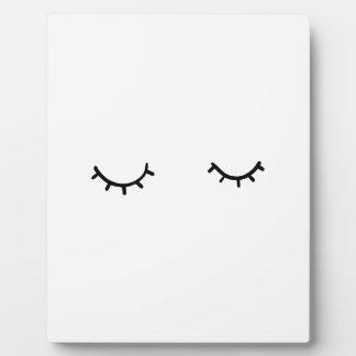 Closed eyes, just eyelashes plaque
