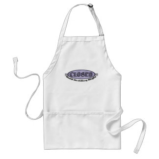 Closed Until Wedding Night Funny Apron