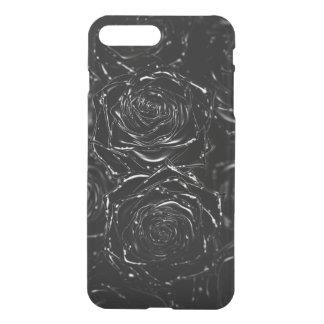 Closed-up one pink 3D black iPhone 8 Plus/7 Plus Case