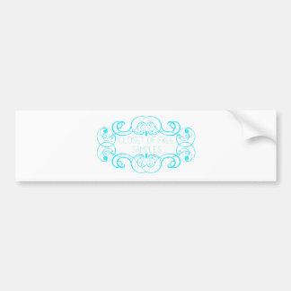 Closet of Free Samples Blue Line Bumper Sticker