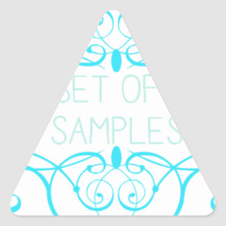 Closet of Free Samples Blue Line Triangle Stickers