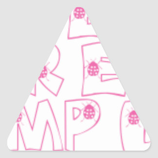 Closet Samples Lady Bug Triangle Sticker