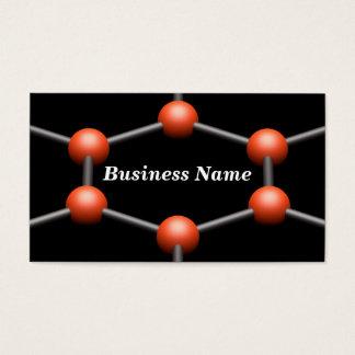 Closeup of a 3D Molecular Structure (Red) Business Card