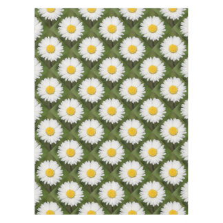 Closeup Of A Beautiful Yellow And Wild White Daisy Tablecloth