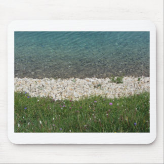 Closeup of a crystal clear alpine lake mouse pad