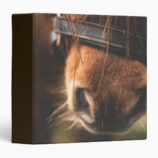 Closeup of a Cute Brown Horse Nose Vinyl Binder