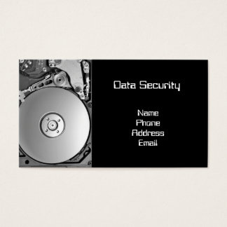 Closeup of a Hard Disk -- Data Security Business Card