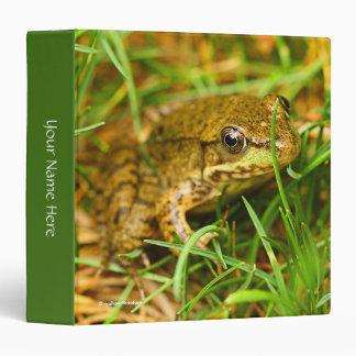 Closeup of a Tree Frog Vinyl Binders