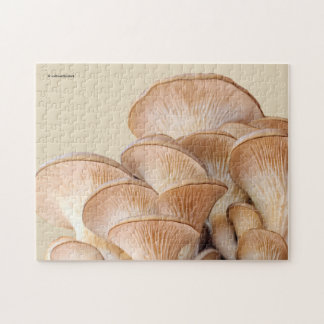 Closeup of An Oyster Mushroom Colony Jigsaw Puzzle
