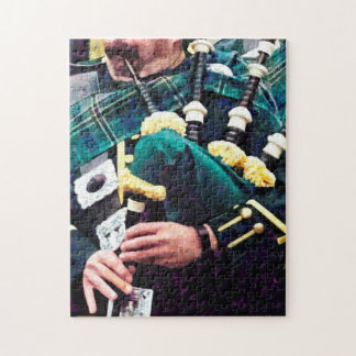 Closeup of Bagpiper Jigsaw Puzzle